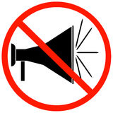 No megaphones allowed Royalty Free Stock Photography