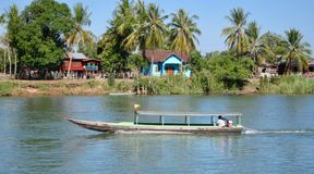 No Mekong River imagens de stock