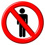 No men 3d sign Royalty Free Stock Photography