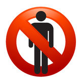 No men sign. Vector illustration of No men sign Stock Photography