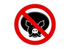 No mexican pork sign Stock Image