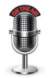 No microfone do ar Foto de Stock Royalty Free