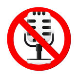No Microphone Sign Stock Images