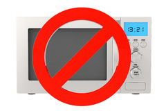 No Microwave Oven Icon Royalty Free Stock Images