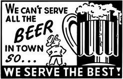No Możemy Słuzyć Wszystkie piwo 2 Zdjęcia Royalty Free