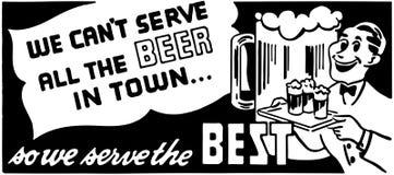 No Możemy Słuzyć Wszystkie piwo Zdjęcie Stock
