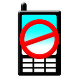 No mobil phone Stock Photography