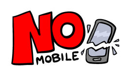 No mobile message Royalty Free Stock Images