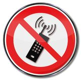 No mobile phone please Royalty Free Stock Image