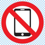 No Mobile Phone Sign stock illustration