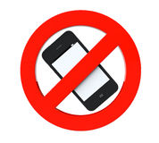 No mobile phone sign Royalty Free Stock Images