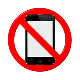 No mobile phone sign Royalty Free Stock Image