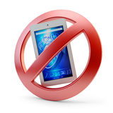 No mobile phone usage allowed sign Stock Photography