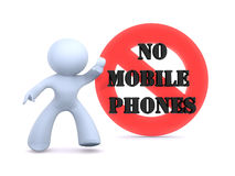 No mobile phones Stock Photo