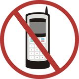 No mobile phones. An image showing No-mobile phones Royalty Free Stock Photos