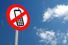 No Mobile Phones Allowed Royalty Free Stock Photography