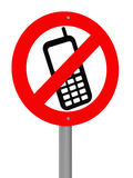 No Mobile Phones Allowed Stock Image