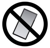 No mobile phones allowed. Symbol Stock Images