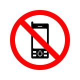 No Mobile Phones Sign. The use of mobile phones is prohibited vector illustration