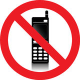 No mobile phones sign Royalty Free Stock Photo