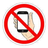 No mobile phones vector icon. banned smartphone. No mobile phones vector icon. banned smartphone Stock Images