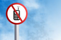 No mobiling sign Stock Images