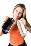 No Money In Purses Royalty Free Stock Image