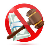 No money and law concept illustration Royalty Free Stock Images
