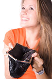 No money in a purse Stock Images
