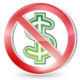 No money sign Royalty Free Stock Image