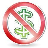 No Money Sign