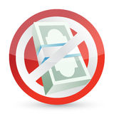 no money symbol illustration design Stock Image