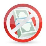 No money symbol illustration design Stock Image