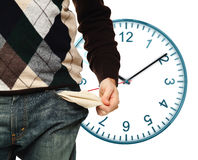 No money on time Royalty Free Stock Photo