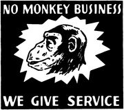 No Monkey Business Stock Image