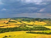 No monte de Cicov em Uplands boêmios centrais, República Checa Fotografia de Stock