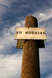No Mooring 3. Photo of a No Mooring sign at the Yacht Club in Astoria, Oregon royalty free stock image