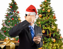 No more calls at Christmas Stock Photos