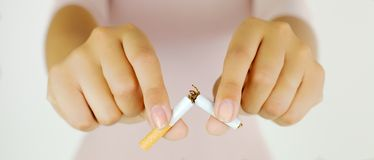 No more cancer stop my addiction Royalty Free Stock Image