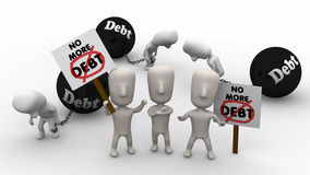 Free No More Debt Royalty Free Stock Images - 20579419
