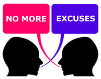 No more excuses royalty free illustration