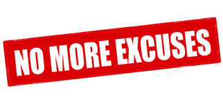 No more excuses Royalty Free Stock Images