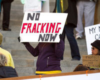 No more fracking Stock Images
