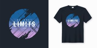 No more limits stylish abstract vector t-shirt and apparel desig Royalty Free Illustration
