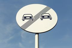 No more restrictions road sign on blue sky background Royalty Free Stock Photos