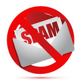 No more spam concept Royalty Free Stock Photos