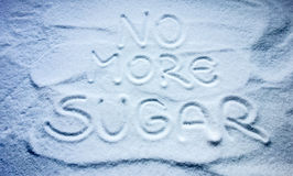 No more sugar sign. With sugar background Stock Photography