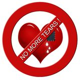 No more tears !-sign Royalty Free Stock Photo