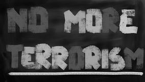 No more terror and terrorism concept Stock Images