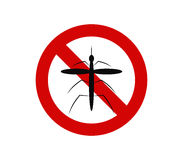 No mosquito icon. On white background Stock Photo
